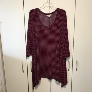 Woman Within Raspberry Houndstooth Tunic-30/32